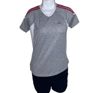 Adidas clima 365 gray with pink stripes, and white
